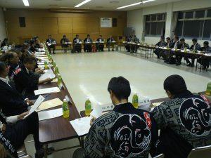 半田の山車組31組の代表とともに総会が行われました。