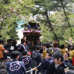 白山神社への坂上げ・坂下げ