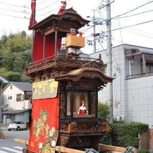 田中組神楽車(たなかぐみ かぐらぐるま) 左斜め前