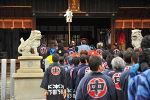 業葉神社に中組みなさんで参拝